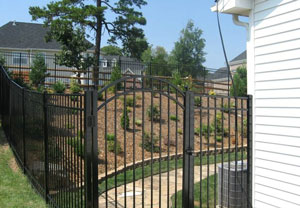 Aluminum fence with Fencing Unlimited