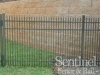 Aluminum fence construction
