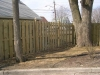 Board wood fence installation
