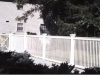 Viny picket pool fence