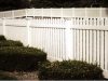 Vinyl picket rail fence