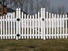 Vinyl picket fence in Richmond
