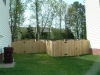 Privacy fence w/ French Gothic Posts