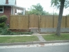 Exposed post privacy fence