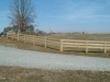 Rail fence installation in Mechanicsville