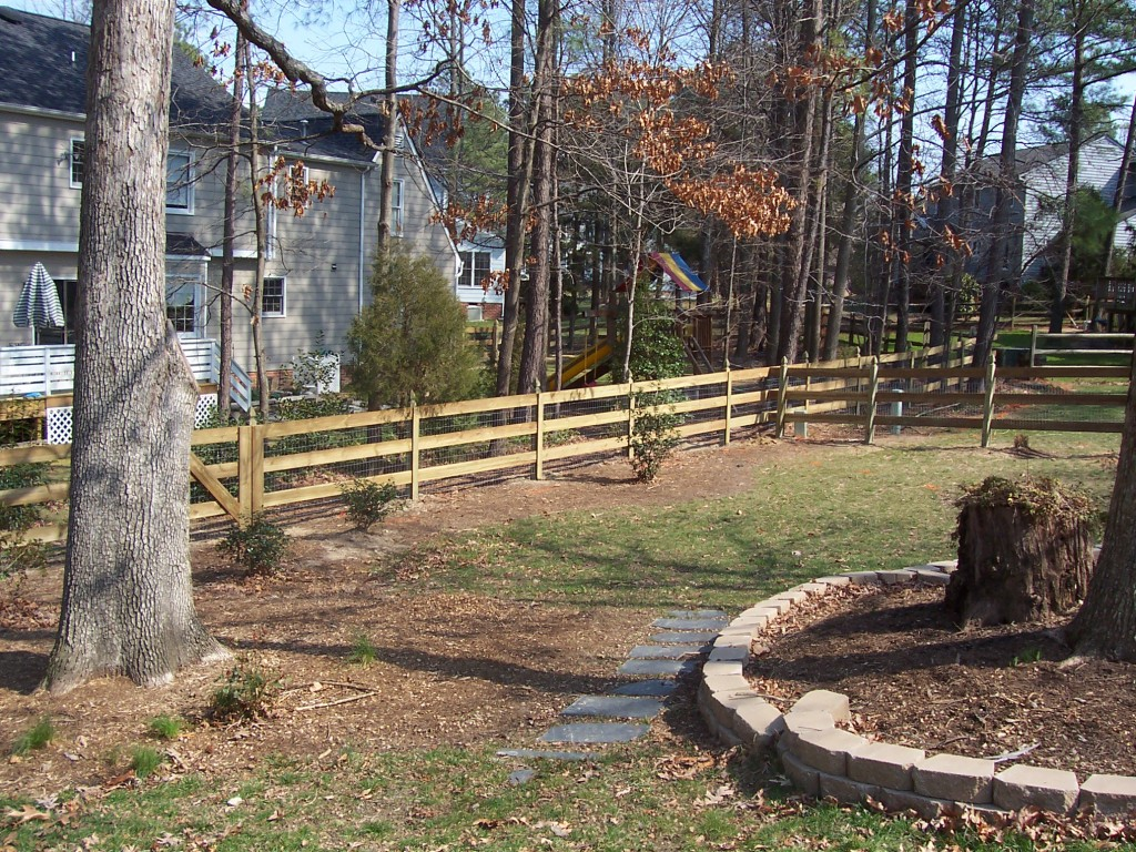 Backyard with Wooden fence