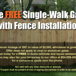 Free Single Walk Gate with Fence Installation offer