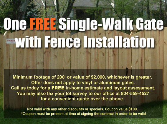 free single-walk gate with Fencing Unlimited